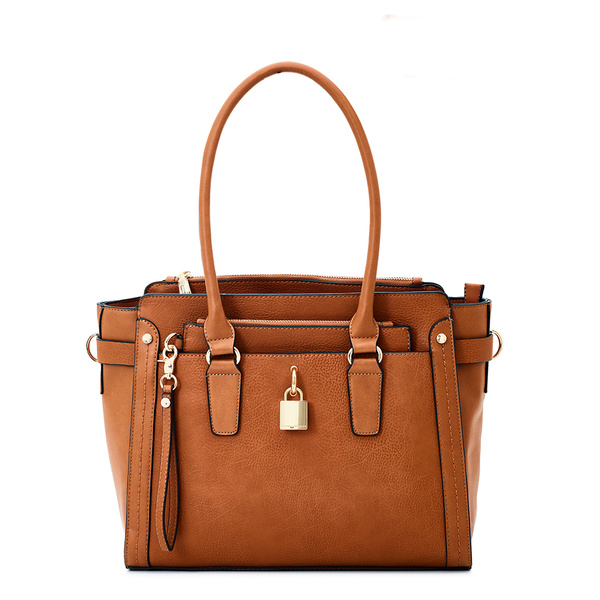 <i>the</i> SOHO SATCHEL <i>cognac</i>