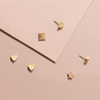 HEART STUD EARRINGS  <i>gold</i>