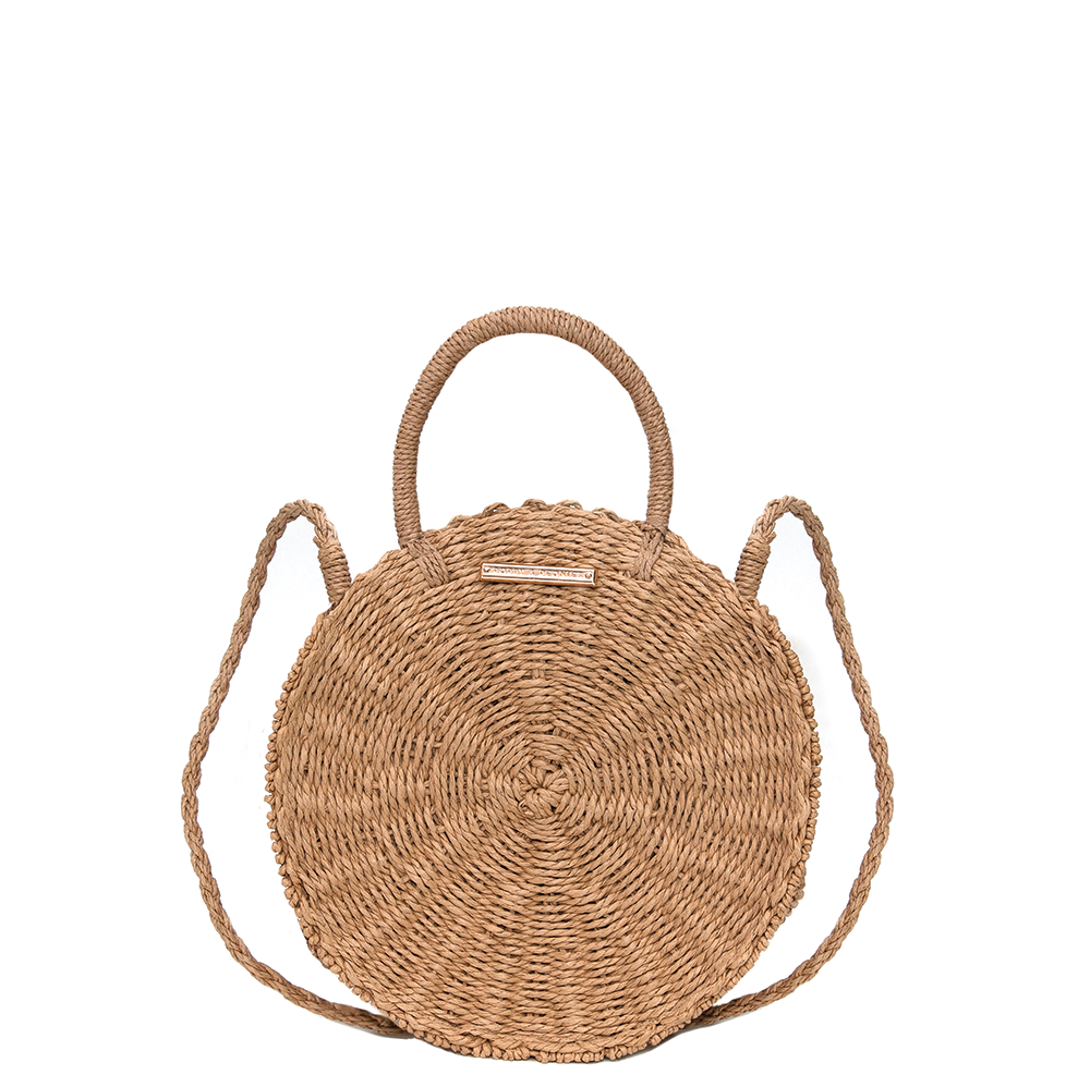 SUNKISSED STRAW CROSSBODY