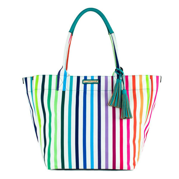 FUN IN THE SUN BEACH TOTE </br><i>bright stripe</i>
