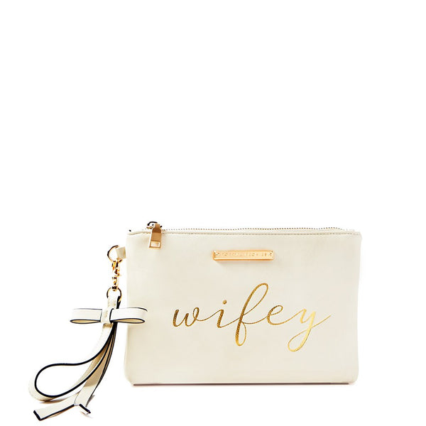 <i>the</i> WIFEY FOR LIFEY CLUTCH <i>cream</i>