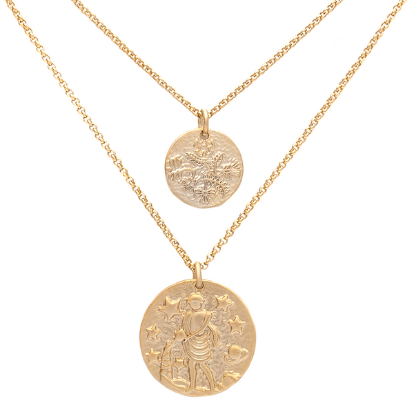 ZODIAC NECKLACE SET <i>aquarius</i>