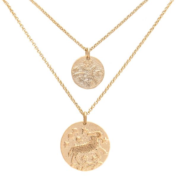 ZODIAC NECKLACE SET <i>aries</i>