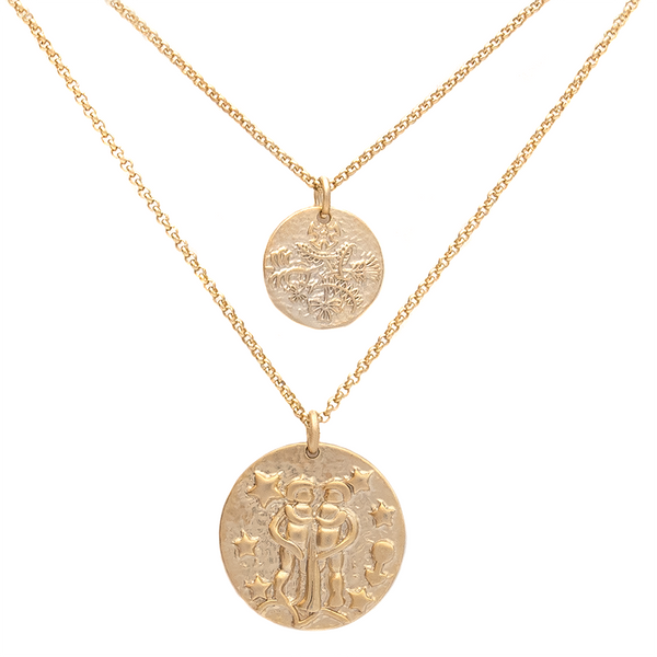 ZODIAC NECKLACE SET <i>gemini</i>