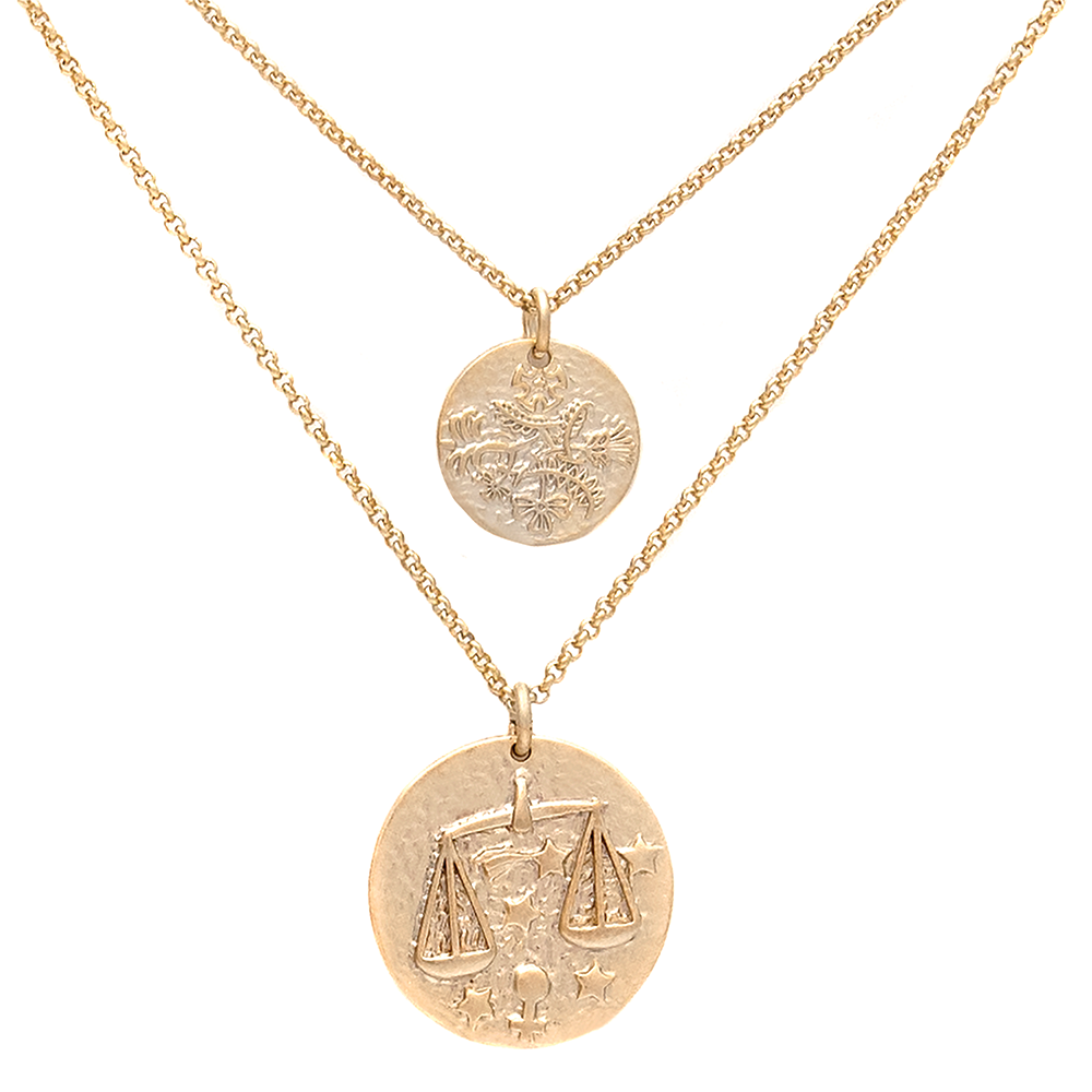 ZODIAC NECKLACE SET <i>libra</i>