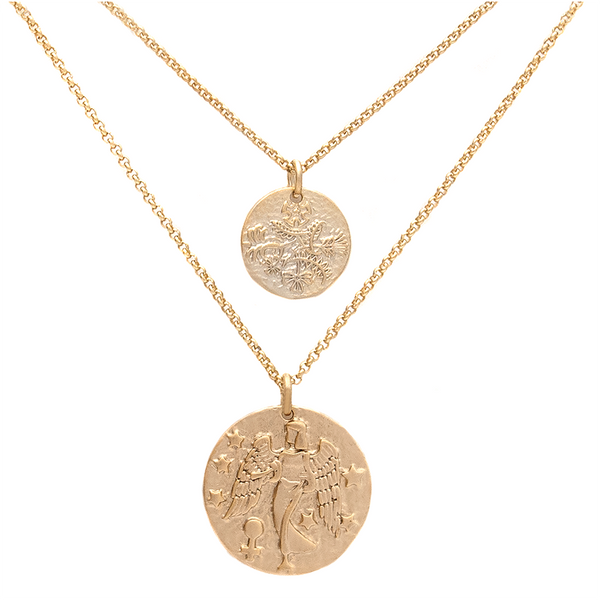 ZODIAC NECKLACE SET <i>virgo</i>
