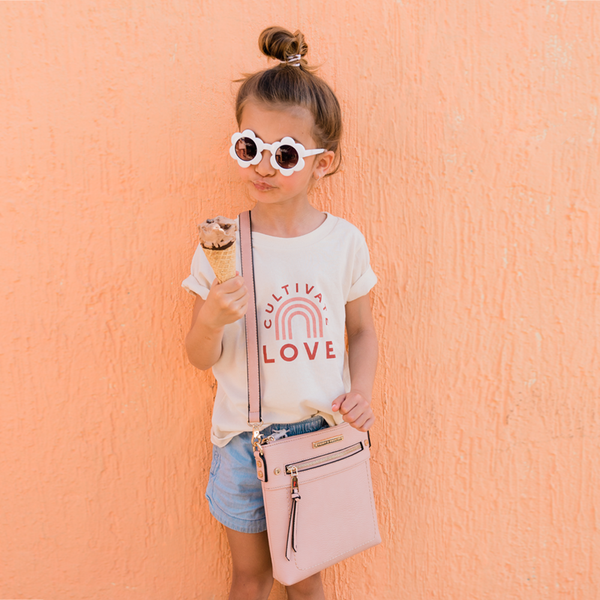 <i>the</i> GLOBETROTTER MINI CROSSBODY <i>blush</i>