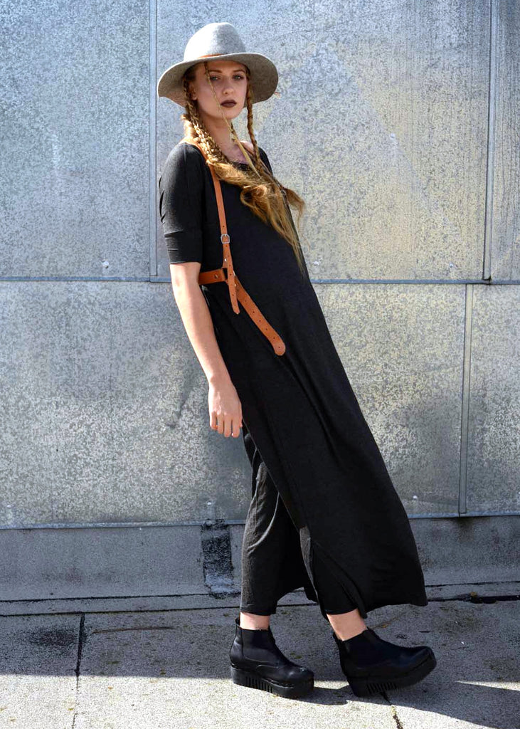 Closed Up - Un Vent Tee Maxi T-Shirt Dress [colors] - BABOOSHKA BOUTIQUE - 10