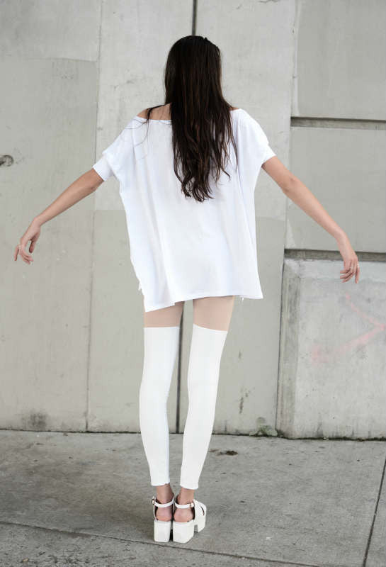 White Vent Tee T-Shirt - BABOOSHKA BOUTIQUE - 10