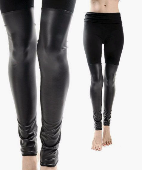 Black Out Leather Thigh High Leggings - BABOOSHKA BOUTIQUE - 18