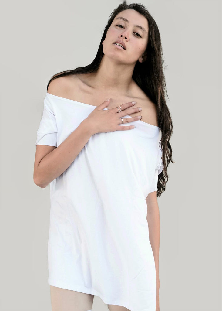 White Vent Tee T-Shirt - BABOOSHKA BOUTIQUE - 4