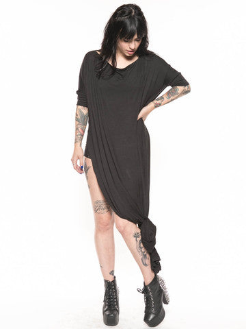 Black Vent Tee Maxi Dress - BABOOSHKA BOUTIQUE - 22