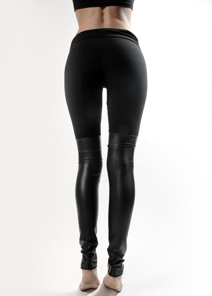 Black Out Leather Thigh High Leggings - BABOOSHKA BOUTIQUE - 6