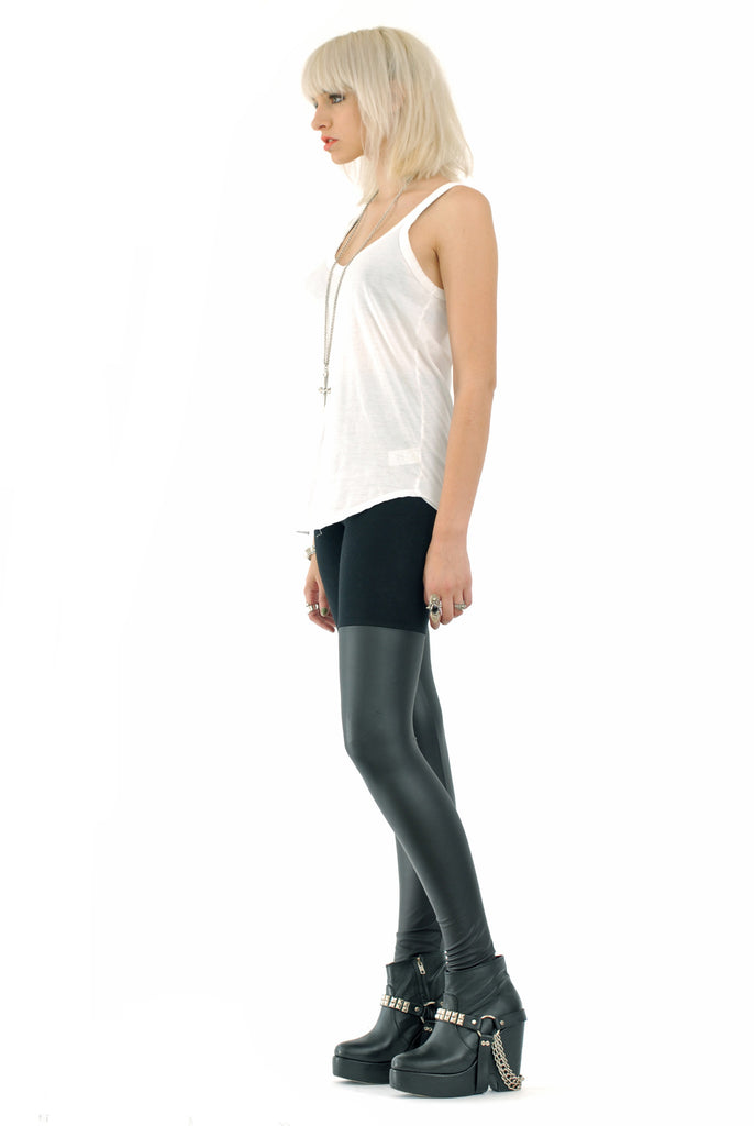 Black Out Leather Thigh High Leggings - BABOOSHKA BOUTIQUE - 21