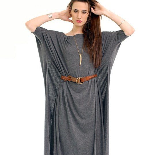 Charcoal Vent Tee Maxi T-Shirt Dress  [new colors] - BABOOSHKA BOUTIQUE - 6