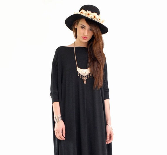 Black Vent Tee Maxi Dress - BABOOSHKA BOUTIQUE - 13