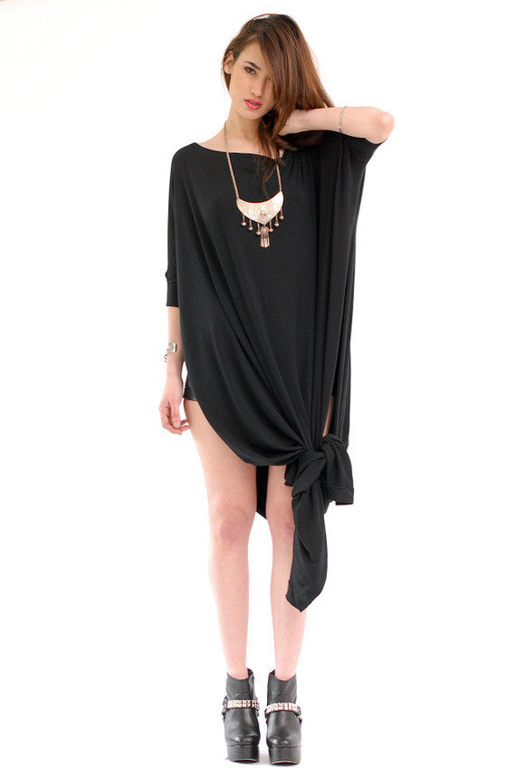 Black Vent Tee Maxi Dress - BABOOSHKA BOUTIQUE - 16