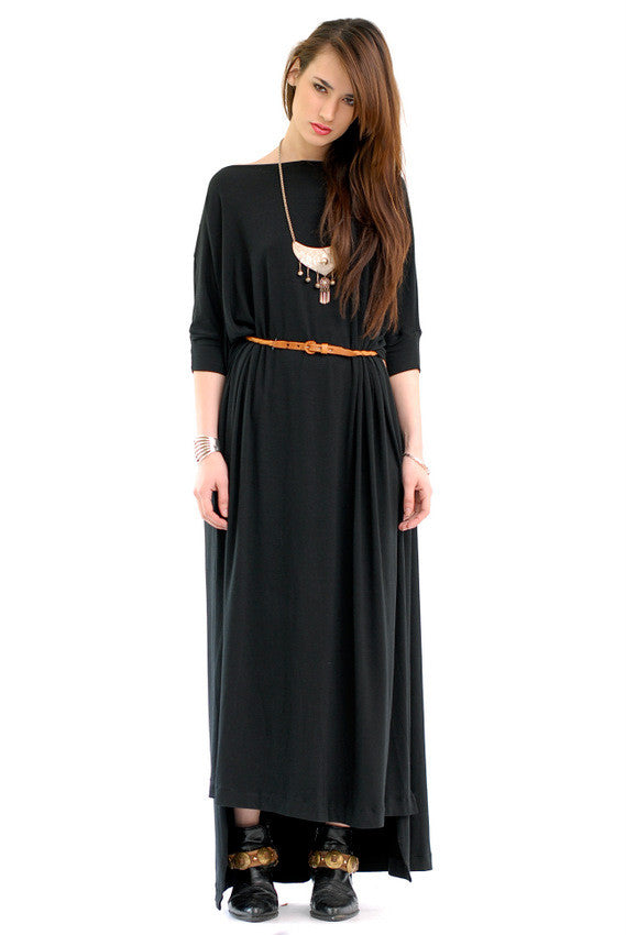 Black Vent Tee Maxi Dress - BABOOSHKA BOUTIQUE - 26