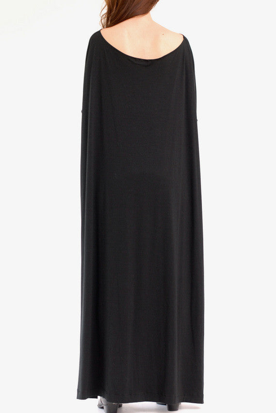 Black Vent Tee Maxi Dress - BABOOSHKA BOUTIQUE - 14