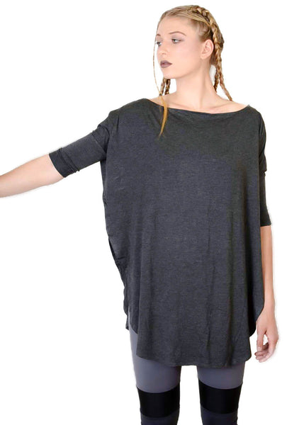 Double Dip Vent Tee - BABOOSHKA BOUTIQUE - 1