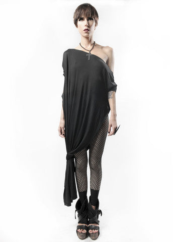 Black Vent Tee Maxi Dress - BABOOSHKA BOUTIQUE - 10