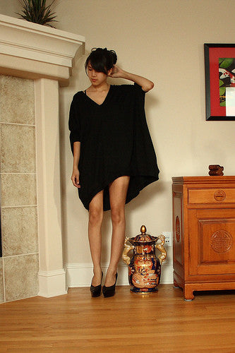 Asymmetrical Oversized T-Shirt Dress [new colors] - BABOOSHKA BOUTIQUE - 12