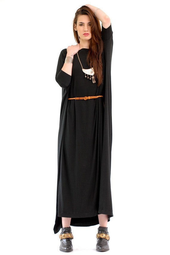 Black Vent Tee Maxi Dress - BABOOSHKA BOUTIQUE - 12