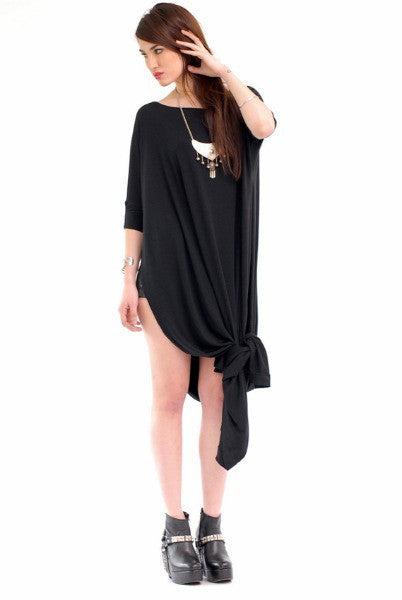 Black Vent Tee Maxi Dress - BABOOSHKA BOUTIQUE - 11