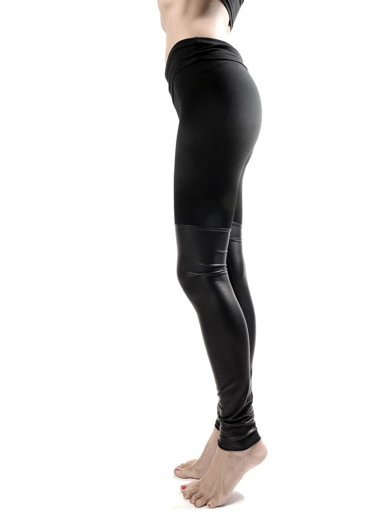 Black Out Leather Thigh High Leggings - BABOOSHKA BOUTIQUE - 5