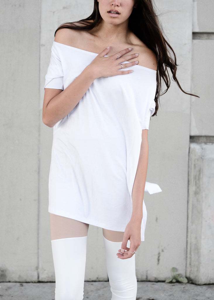 White Vent Tee T-Shirt - BABOOSHKA BOUTIQUE - 1