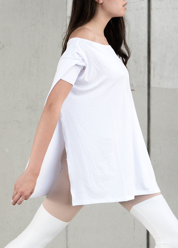 White Vent Tee T-Shirt - BABOOSHKA BOUTIQUE - 3