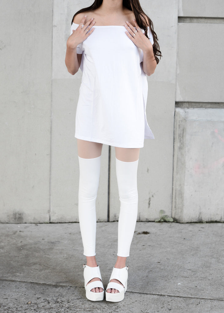 White Vent Tee T-Shirt - BABOOSHKA BOUTIQUE - 9