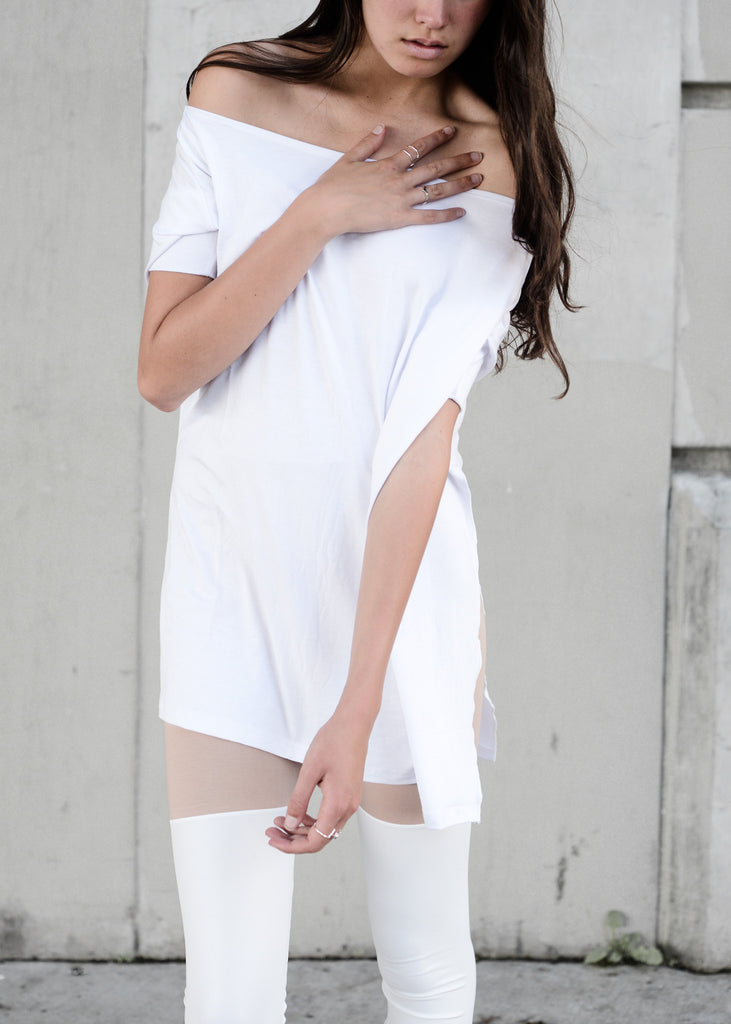 White Vent Tee T-Shirt - BABOOSHKA BOUTIQUE - 8