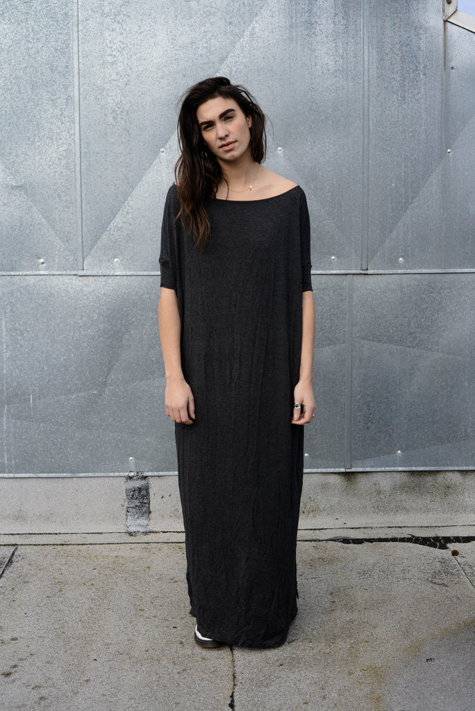 Closed Up - Un Vent Tee Maxi T-Shirt Dress [colors] - BABOOSHKA BOUTIQUE - 23