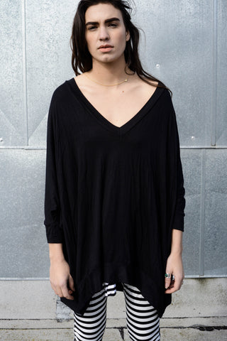 - FINAL FEW - Asymmetrical Oversized T-Shirt Dress - FINAL SALE