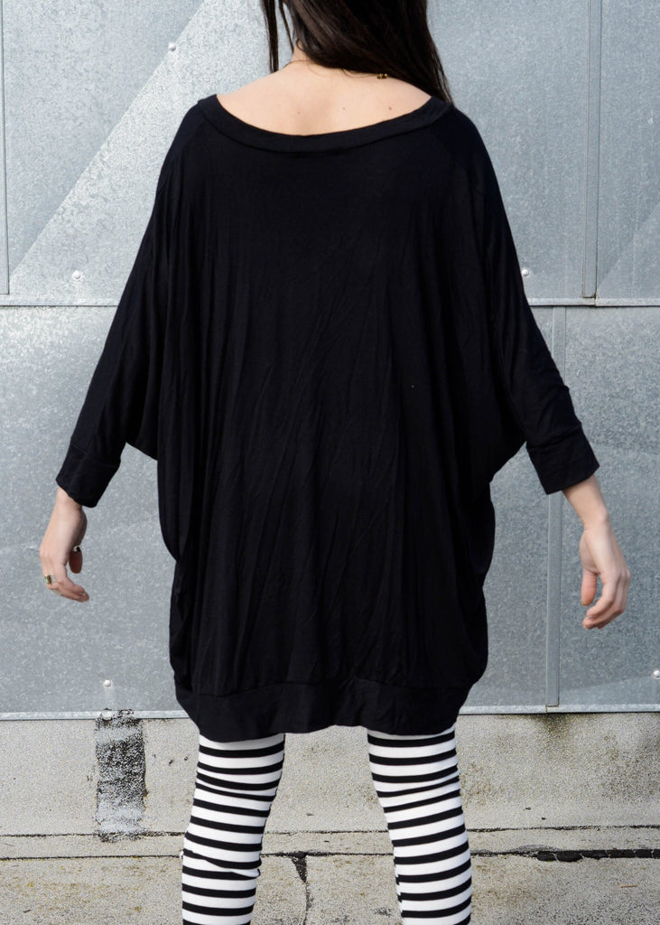 Asymmetrical Oversized T-Shirt Dress [new colors] - BABOOSHKA BOUTIQUE - 2