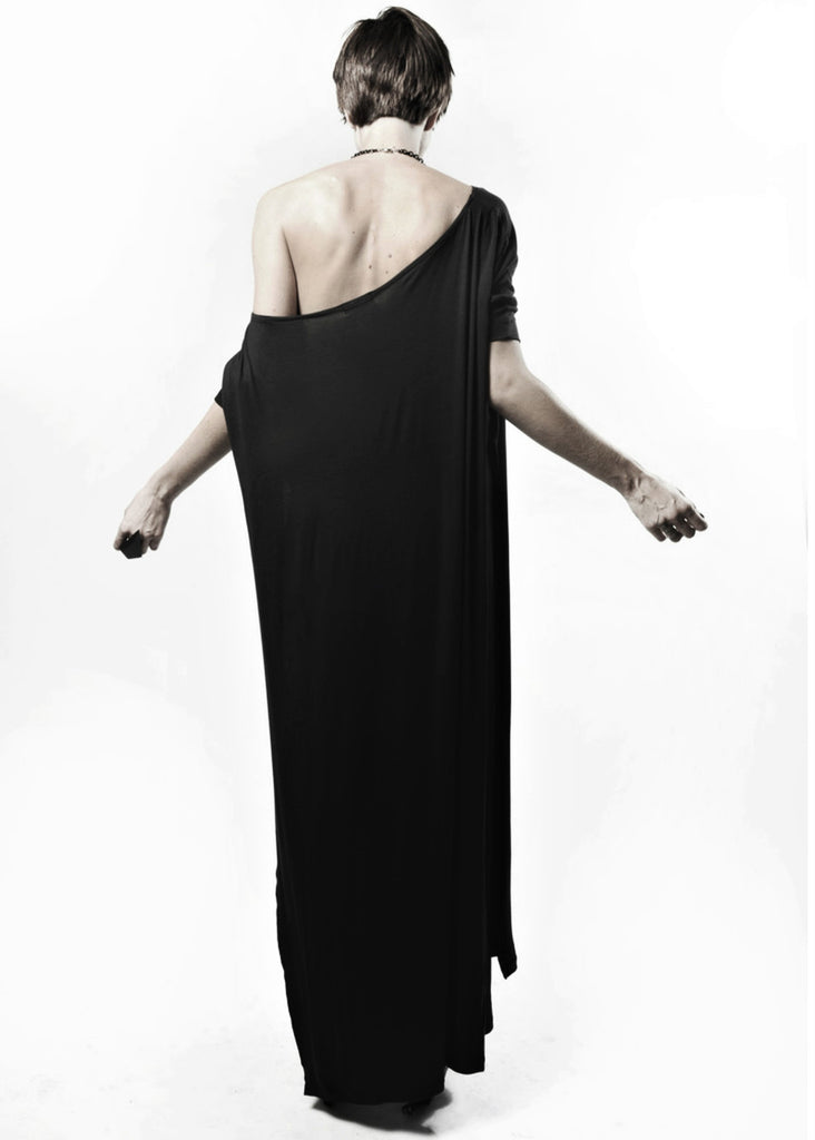 Black Vent Tee Maxi Dress - BABOOSHKA BOUTIQUE - 8