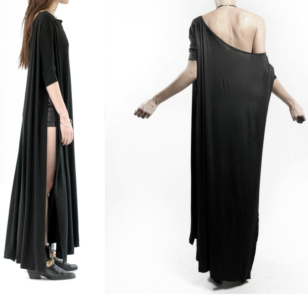 Black Vent Tee Maxi Dress - BABOOSHKA BOUTIQUE - 9
