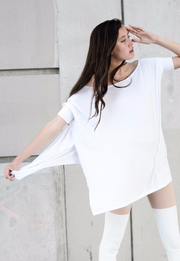 White Vent Tee T-Shirt - BABOOSHKA BOUTIQUE - 11