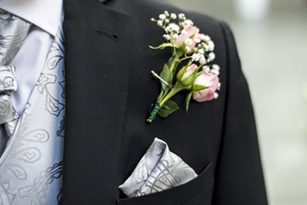 Tuxedo with Silver Vest and Tie