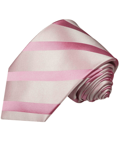 Satin Pink Striped Necktie by Paul Malone Paul Malone Ties - Paul Malone.com