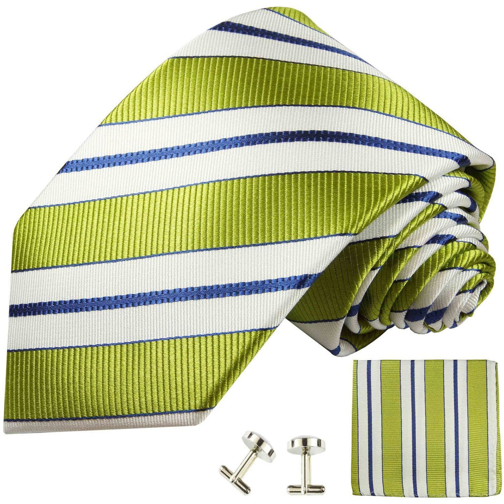 Necktie in Green, White and Navy Blue Paul Malone Ties - Paul Malone.com