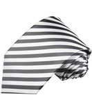 Charcoal and White Striped Necktie Ties Paul Malone