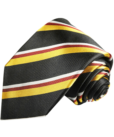 Charcoal and White Striped Necktie