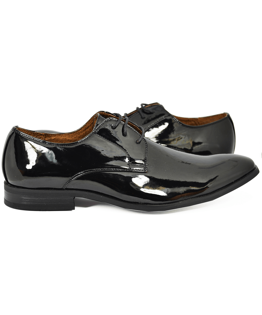 Classic Patent Oxford Tuxedo Shoes Majestic Shoes - Paul Malone.com