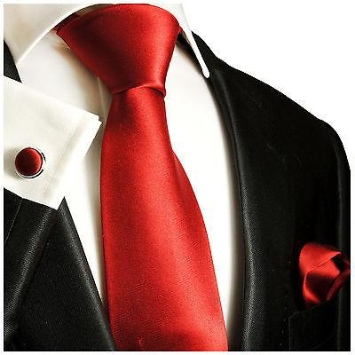Solid Red Classic Tie with Accessories Paul Malone Ties - Paul Malone.com