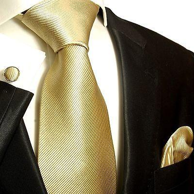 Solid Tan Silk Tie and Accessories Ties Paul Malone