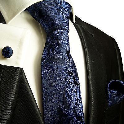 Gold Paisley Silk Tie and Accessories