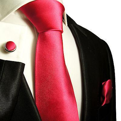 Extra Long Solid Hot Pink Silk Tie and Accessories - Satin Paul Malone Ties - Paul Malone.com