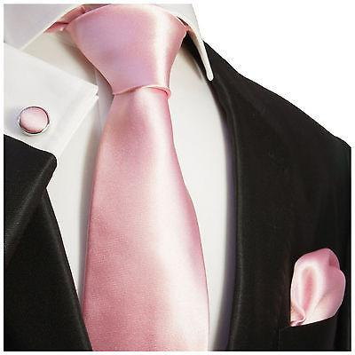 Solid Pink Silk Tie and Accessories Paul Malone Ties - Paul Malone.com